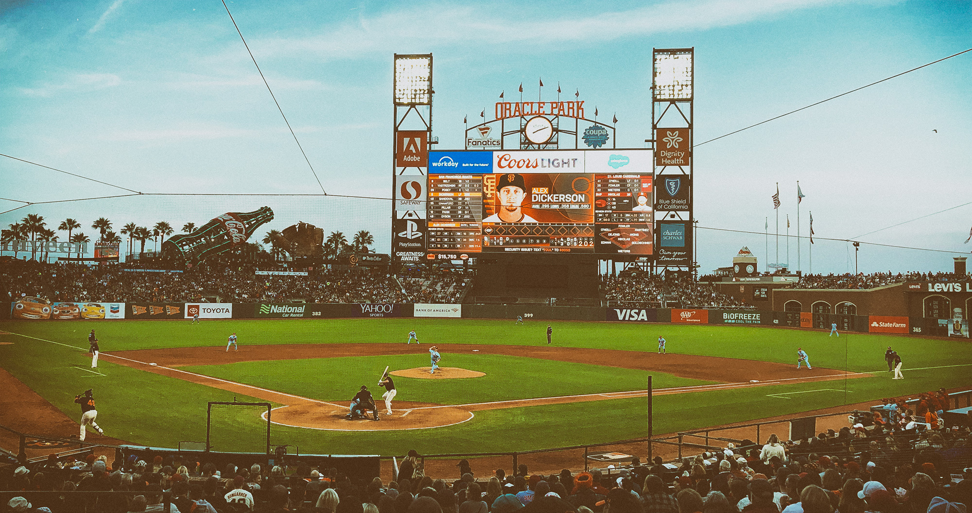 July 6th, 2019 Baseball game between the St. Louis Cardinals and San Francisco Giants at Oracle Park